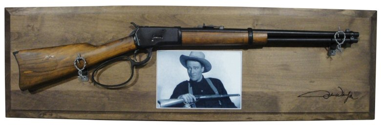1892 John Wayne carbine in framed set