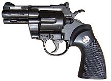 .357 Magnum, blued black finish, 2-inch barrel