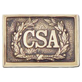 Confederate Officer's Belt Buckle, Brass