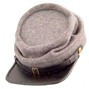 Confederate Gray enlisted kepi cap