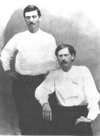 Bat Masterson and Wyatt Earp as Deputy Sheriffs in Dodge City, KS, 1876