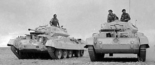 British Crusader Tanks in North Africa.