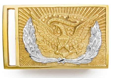 Union Officer's Sword Belt Buckle, shiny brass