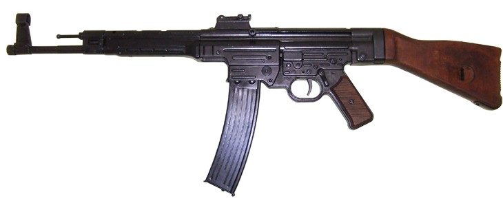German StG 44 WWII assault rifle with wood stock