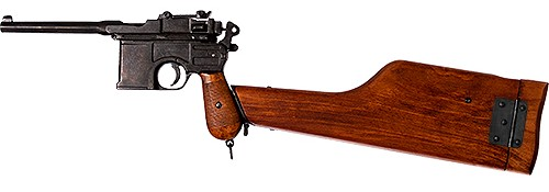 Mauser C96 Broomhandle with wood stock.