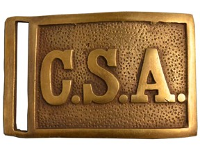 Retangular Confederate Belt Buckle, brass