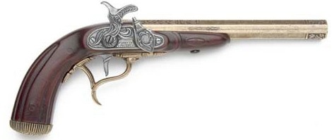 1807 English Percussion cap-fire dueling pistol