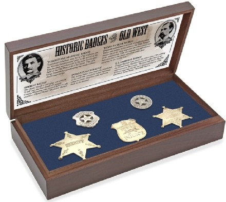 Old West Badges boxed display