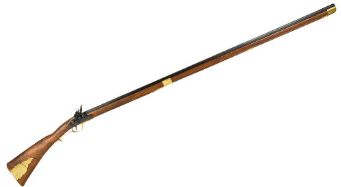 Kentucky long rifle, replica of the rifle used by Davy Crockett at The Alamo.