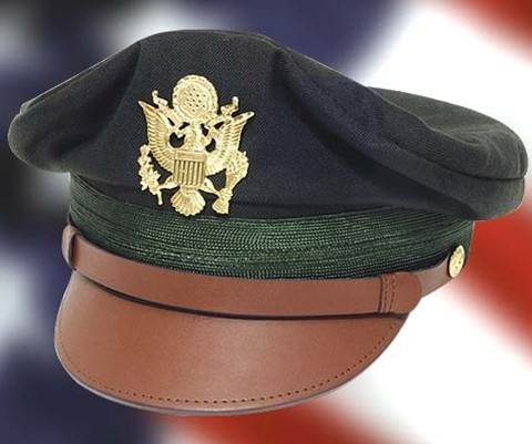 US WWII Army Air Force 50-Mission Crush Cap in dark green