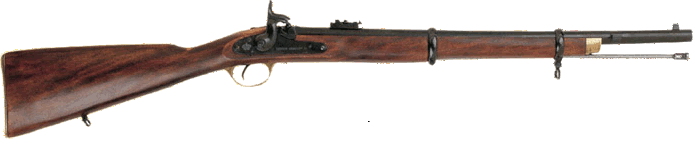 1860 Enfield P-60 Short Rifle, used by both North and South during the Civil War