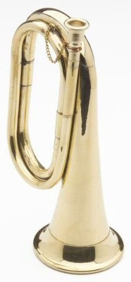 Civil War brass cavalry bugle