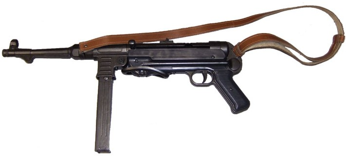 MP40 Schmeisser German Submachine Gun with metal folding stock