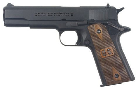 Collector Classic Replica of the M1911 .45 Caliber Pistol with wood U.S. grips