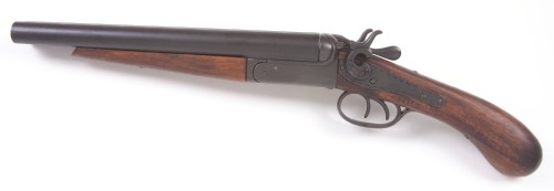 M1881 Double Barrel Pistol - cut-down version of the Coach Gun, 12 inch barrel, 21.5 inches overall