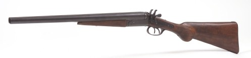Coach Gun - Replica of 1881 dbl barrel shotgun used to defend  stagecoaches in Old West