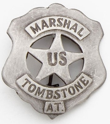 Tombstone Marshal Badge