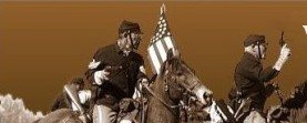 www.gunsofold.com main page heading with civil war soldiers.