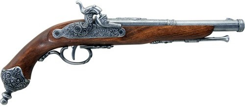 1825 Italian cap-fire dueling pistol,grey finish.