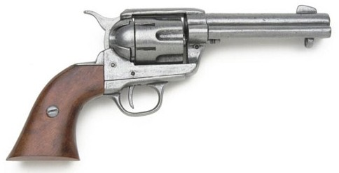 1886 Colt .45 Peacemaker, Grey, Wood Grips