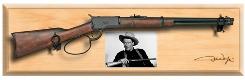 John Wayne 1892 Carbine Framed Set, light finish wod plaque