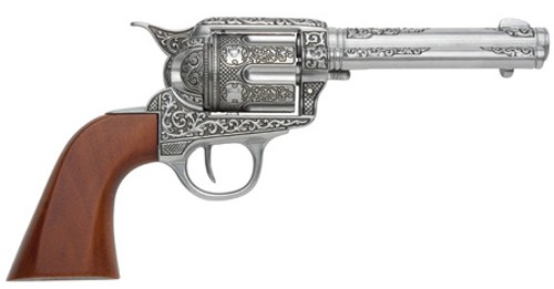 1873 SAA Fast Draw, polished nickel with wood grips