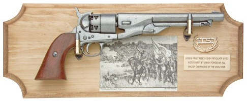 Union framed set with 1860 Army pistol.