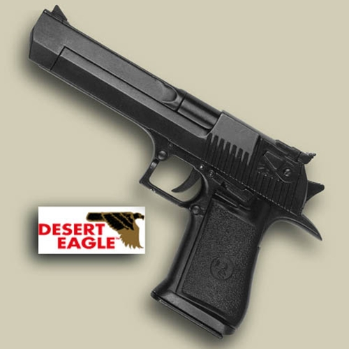 Desert Eagle pistol, black with black grip