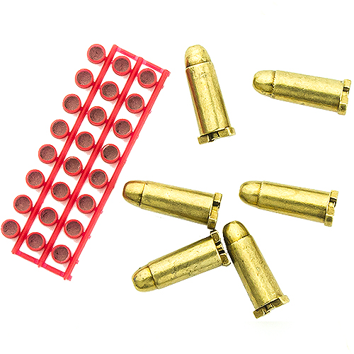 Dummy bullets and caps for cap-firing replica pistols