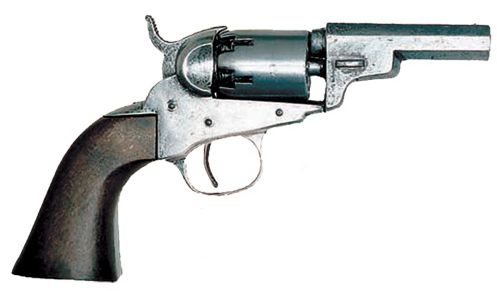 1849 Navy Pocket Pistol, Pewter finish, wood grip