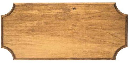 Hand-stained Pine Plaque with routed edges for pistol or dagger wall displays, choose 18 x 7 inches or 16x7 inches