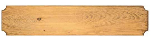 Hand-stained pine plaque with routed edges for rifle or sword wall display, 45 inches long, 9 inches deep
