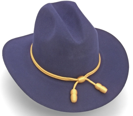 Union Civil War  uniform blue slouch hat with gold tassle band